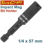 IMPACT MAGNETIC BIT HOLDER 1/4 X 57MM CARDED