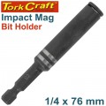 IMPACT MAG.BIT HOLDER 1/4 X 76MM CARDED