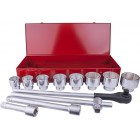 "SOCKET SET 12PC 1"" DRIVE 6PT 46 - 80MM IN METAL CASE"