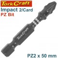 IMPACT POZI.2 X 50MM POWER BIT 2/CARD