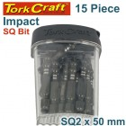 IMPACT SQUARE RECESS PWR BIT NO.2X50MM TIC TAC CASE