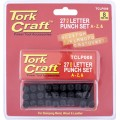 LETTER PUNCH SET 8MM (A-Z) BLACK FINISH