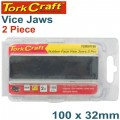 VICE JAWS MAGNETIC ALUM. 100MM X 32MM 2PC RUBBER FACE