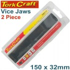 VICE JAWS MAGNETIC ALUM. 150MM X 32MM 2PC RUBBER FACE