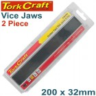 VICE JAWS MAGNETIC ALUM. 200MM X 32MM 2PC RUBBER FACE