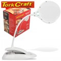 MAGNIFING LED USB RECH. DESK LAMP 3X;5X MAG. TOUCH SWITCH & DIM FUNC.