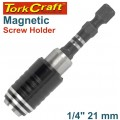 "MAGNETIC SCREW HOLDER 1/4"" 21MM CARDED"