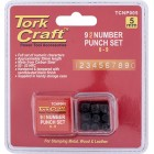 NUMBER PUNCH SET 5MM (0-9MM) BLACK FINISH