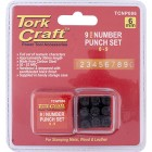 NUMBER PUNCH SET 6MM (0-9MM) BLACK FINISH