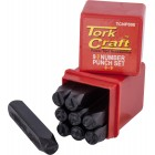 NUMBER PUNCH SET 8MM (0-9MM) BLACK FINISH