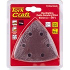 OSCILATING SANDPAPER A/O 93MM 10PC DELTA SHAPE 80GRIT