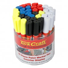 PAINT MARKER PEN 36PC BULK TUB RED/YEL/WHITE/BLACK/BLUE