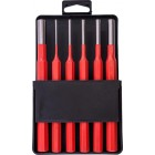TORK CRAFT PIN PUNCH SET 6PC - 2.5, 3.5, 4. 5, 6, 8, 10MM RED