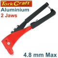 ALUMINIUM HAND RIVETER  4.8MM MAX 2 JAW