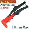 ALUMINIUM HAND RIVETER  4.8MM MAX 3 JAW H/DUTY
