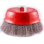 WIRE CUP BRUSH 150 X M14 CRIMPED STAINLESS STEEL TCW