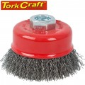 WIRE CUP BRUSH CRIMPED PLAIN 100MMXM14 BULK