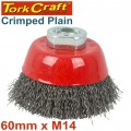 WIRE CUP BRUSH CRIMPED PLAIN 60MMXM14  BULK