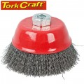 WIRE CUP BRUSH CRIMPED PLAIN 75MMXM14 BULK
