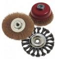 WIRE BRUSH SET 3PCE 100MM TWIST KNOT WHEEL