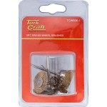 WIRE BRUSHES MINI 5PC BRASS 3.2mm SHAFT ASSORTED SHAPES