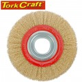 WIRE WHEEL BRUSH 150 X 25MM BENCH GRINDER BLISTER