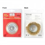 WIRE CUP BRUSH 63MM X 6MM SHAFT BLISTER