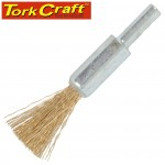 WIRE END BRUSH 12MM X 6MM SHAFT BLISTER