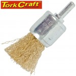 WIRE END BRUSH 24MM X 6MM SHAFT BLISTER