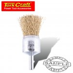 WIRE END BRUSH HIGH SPEED 24MM X 6MM SHAFT