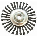WIRE WHEEL BRUSH SINGLE SECTION TWISTED PLAIN 115MMXM14 BLISTER
