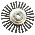 WIRE WHEEL BRUSH SINGLE SECTION TWISTED STINGER 115MMXM14 BLISTER