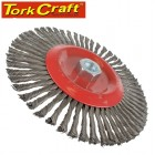 WIRE WHEEL BRUSH SINGLE SECTION TWISTED PLAIN 175MMXM14 BLISTER
