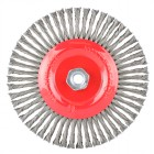 WIRE WHEEL BRUSH SINGLE SECTION TWISTED STINGER 175MMXM14 BLISTER