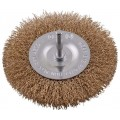 WIRE WHEEL BRUSH 100MM X 6MM SHAFT BLISTER
