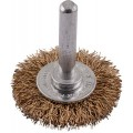WIRE WHEEL BRUSH 38MM X 6MM SHAFT BLISTER