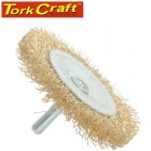 WIRE WHEEL BRUSH 50MM X 6MM SHAFT