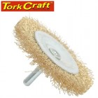 WIRE WHEEL BRUSH 63MM X 6MM SHAFT BLISTER