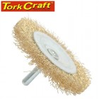 WIRE WHEEL BRUSH 75MM X 6MM SHAFT BLISTER