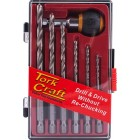 HEX SHANK DRILL SET 7PCE WITH QUICK CHANGE ADAPTOR SET 7PCE