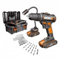 DRILL & LIGHT KIT 20V 2 X 1.5AH STD CHARG. 35PC ACC. TOOLBOX