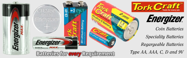 Extensive Range of Batteries