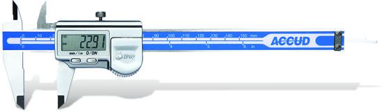 Plot - Accud Accud Coolent Proof Digital Caliper With Calibration Cert 0-300Mm