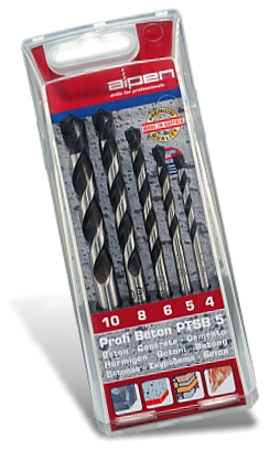 concrete profi beton drill bit 5 piece set 4 5 6 8 10 mm. Black Bedroom Furniture Sets. Home Design Ideas