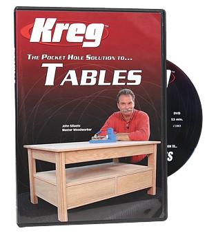 DVD: Pocket Hole Solution to Tables