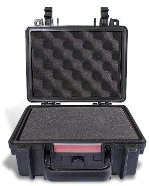 HARD CASE 225X185X115MM OD WITH FOAM BLACK WATER & DUST PROOF (19208)