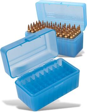 HARD CASE AMMO BOX 120X60X75MM RIFLE 50 ROUNDS (TB903)